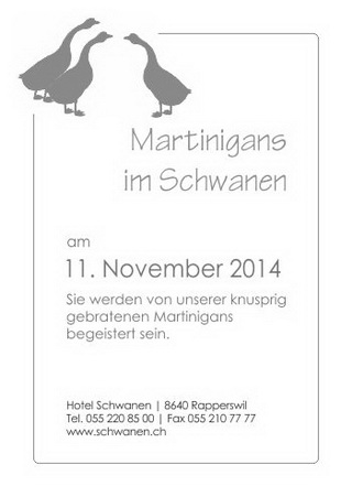 Martinigans am 11.November 2014